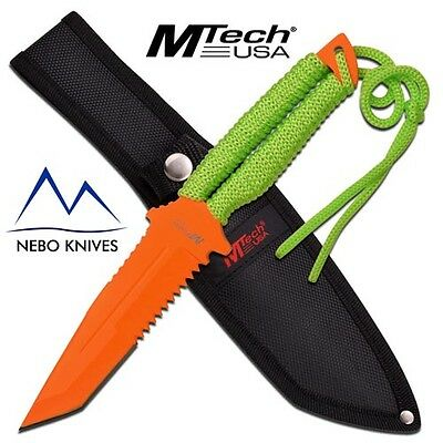 "MTech USA FIXED BLADE KNIFE 10.5"" OVERALL TACTICAL KNIFE 440 STAINLESS  MT2052OG"