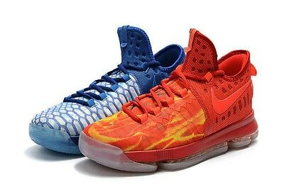 Nike Zoom KD 9 GS Fire & Ice 855908-400 Youth US 4 Royal Blue Red NEW $125