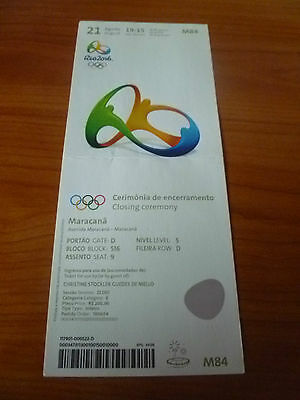 TICKET 21.8.2016 Olympia Rio Olympic Closing Ceremony M84 ( Variante 1 )