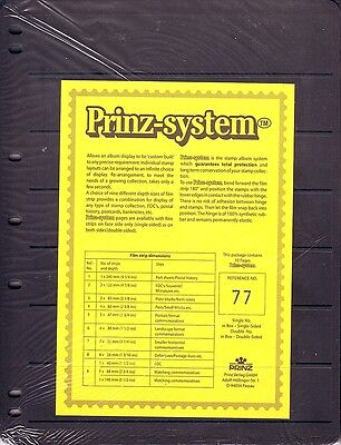 10  Prinz System 7  strip double sided Pages stock sheet