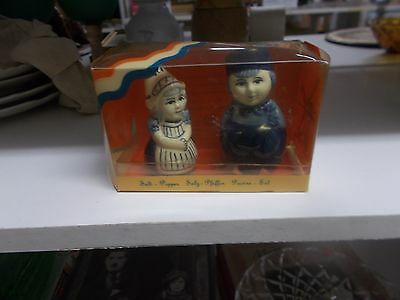 Salt and pepper shakers of the little dutch boy and girl