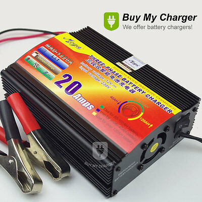 12V 20A 100-150AH Car Battery Charger Motorcycle Lead acid Charger