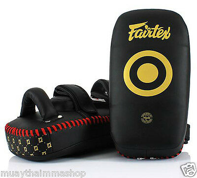 GENUINE FAIRTEX NEW LIGHTWEIGHT MUAYTHAI Standard Curve Kick Pads Training KPLC5
