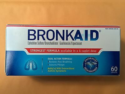 1 Box Bronkaid 60 Caplets Always In Stock & Ships On The Same Day! Exp: 8/19