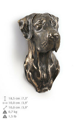 GREAT DANE (UNCROPPED) dog statuette to hang on the wall, Art Dog , CA