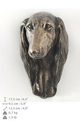 Saluki dog statuette to hang on the wall, Art Dog , CA