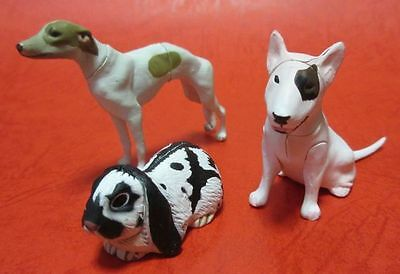 LOT3 Choco Egg Lop Eared Rabbit Bull Terrier Whippet DOG Figure Japan CE13