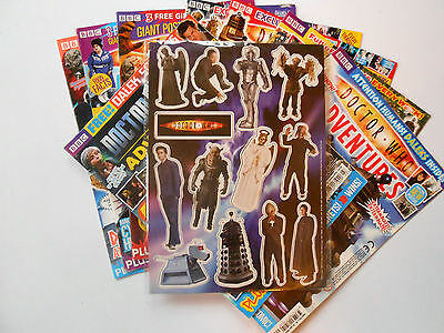 DOCTOR WHO ADVENTURES MAGAZINE MAGAZINES x 8 - PLUS DR WHO MAGNETS - BB     C