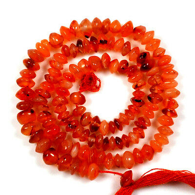 """54Ct.aaa Blood~Moon Natural Red Carnelian Buton Loose Gemstone Beads 13"""" A 29566"""
