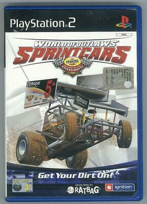 World Of Outlaws Sprint Cars Ps2 Completo Ottimo Usato Pal
