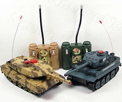 2x Remote Control Tank game RC battle tanks
