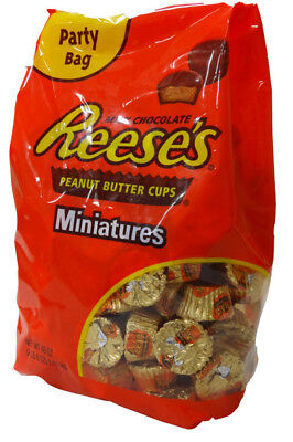 902691 1.13kg BAG OF REESE'S MILK CHOCOLATE PEANUT BUTTER CUPS, MINIATURES! USA