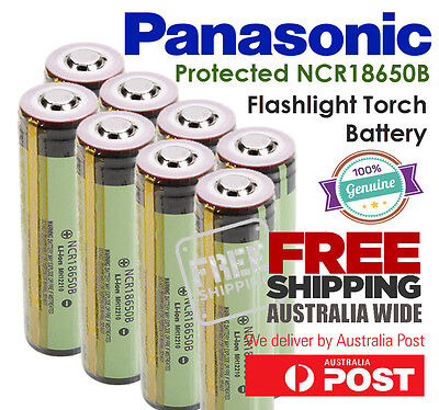 Panasonic Protected NCR 18650 B 3.7V 3400mAh Button Top Flashlight Torch Battery