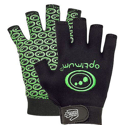 "Optimum ""stik Mits"" Rugby Gloves - Black/green - Pair. (Free Uk Postage)."