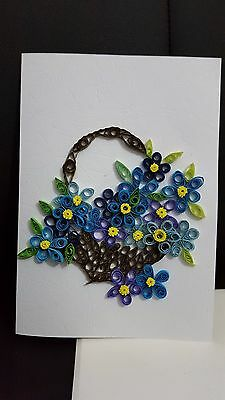 Handmade Paper quilling Greeting Card