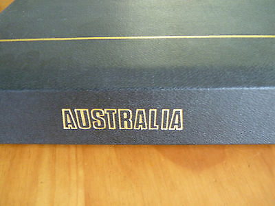 AUSTRALIA STAMP ALBUM Full of Various Hagner Sheets (empty)  EC  See Pics!!