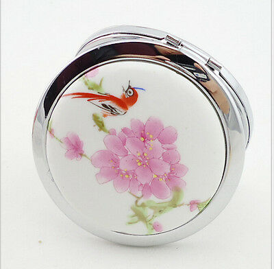 Oriental Inspired Blossom Floral Decorative Compact Mirror - Free Shipping - NEW