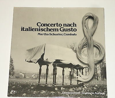 Jeton DIRECT TO DISC - Martha Schuster - Harpsichord - LP - BACH - Concerto
