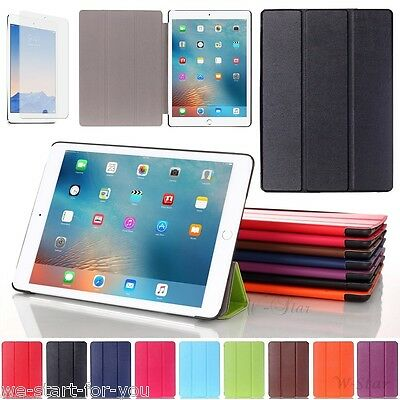 "✔Edle New Apple iPad 2017 (9.7"") Schutz Hülle+Folie Tasche Cover Smart Case 8-FA"
