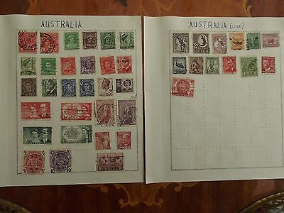 Australia used collection on 2 old album pages.High CV
