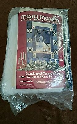 Mary Maxim Quick -And - Easy Quilt Kit 7380 Do you see what i see