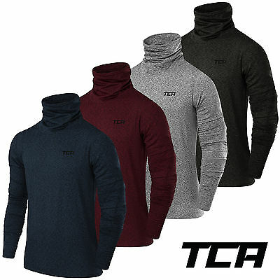 TCA Men's Warm Up Funnel Neck Thermal Running Top