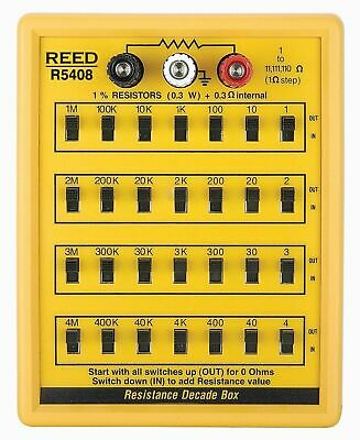 REED R5408 Resistance Decade Box with 7 Decade Ranges of Resistance.