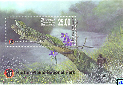 Sri Lanka Stamps 2010, Horton Plains National Park, Lizard, MS