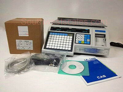New CAS LP-1000N Label Printing Scale - Free Shipping + Case of 8020 Labels!
