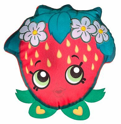 New Shopkins Super Soft Comfy Cushion / Pillow Strawberry Shaped Girls Kids Gift