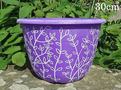 Plastic Plant Flower Pot Planter Garden Patio Decor Large Planters Herb Purple