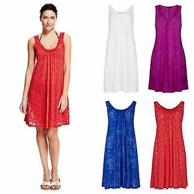 9660d80403 M&S Red White Pink Blue Beach Dress Mark and Spencers Burnt Out Cover Up  Kaftan