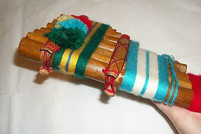 Vintage Bamboo Andean Panpipe Pan Flute Panflute Folk Art Musical Instrument