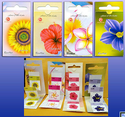Sri Lanka Stamps 2012, Flowers, Shoe, Sun, Frangipani, Binara, Booklets