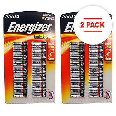 (Case of 2) Energizer Max 32-Pack AAA Batteries - New Sealed Stock up Now!!!!