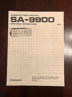 Pioneer SA-9900 Operating Instructions Manual With Schematic