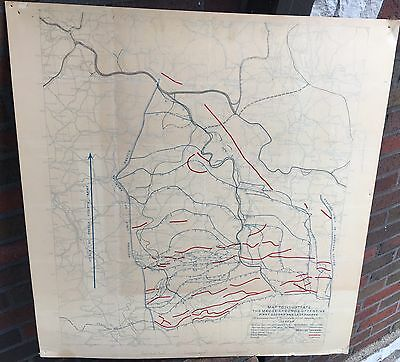 Rare WWI Meuse-Argon Offensive U.S. Army Map - Mounted