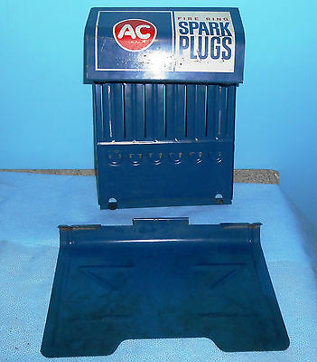 Vintage Ac Fire Ring Spark Plugs Blue Catalog Holder Advertising Collectible