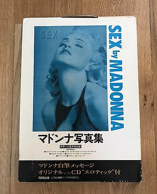 Madonna Sex Book / Japanese Edition / Boxed / With Cd / Steel Case Picture Book