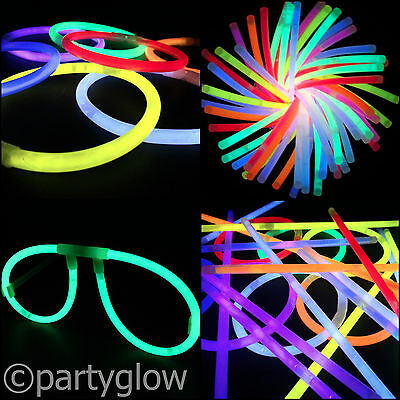 "8"" Glow Sticks Bracelets 8"" Tri Colour Glow Sticks Rave Festival Party Favours"