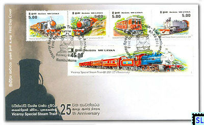 Sri Lanka Stamps 2011, Viceroy Special Steam Train, Locomotive, Railway, FDC