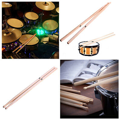 1 Pair Drum Sticks High Quality Maple Wood Tip 5A Drumsticks Percussion Sticks