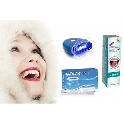 WHITE PRO® - Blanchiment dentaire : Stylo - Mousse dentifrice - Lampe
