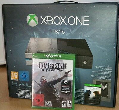 Xbox One 1TB Konsole Halo 5 Guardians Limited + Homefront The Revolution NEU NEW