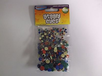 Crafty Bitz Googly Eyes - Pack of 300, Assorted Sizes and Colours