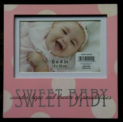 6 x 4  baby picture frame. Girl.