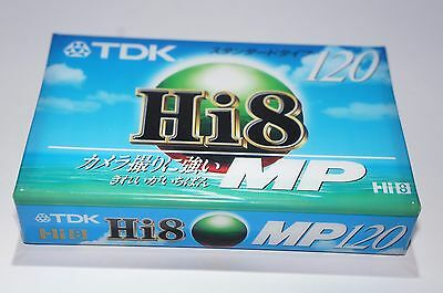 TDK Hi8 MP 120 Blank Camcorder VCR Video Cassette Free Shipping
