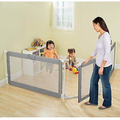 Baby Gate Play Yard Portable Room Divider 3 Panel Child Indoor Safety Kids Pet