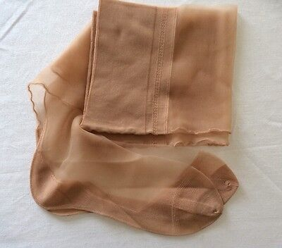 Vintage 50s Nylon Stockings Rare Stay Put 15 Den Seamed Cuban 10 - 11 Leg 33""