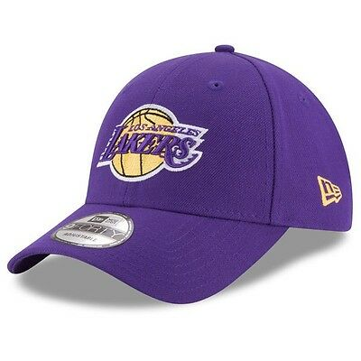 LA Lakers New Era 9Forty Official Team Colour Adjustable Cap,Purple